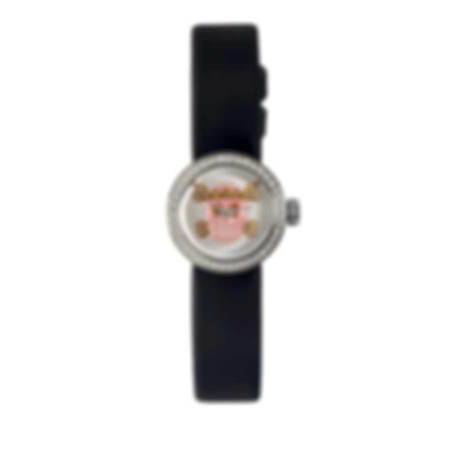 """Dior La Mini D De Dior Diamond """"Skull Dial"""" Quartz Ladies Watch CD040110A030"""