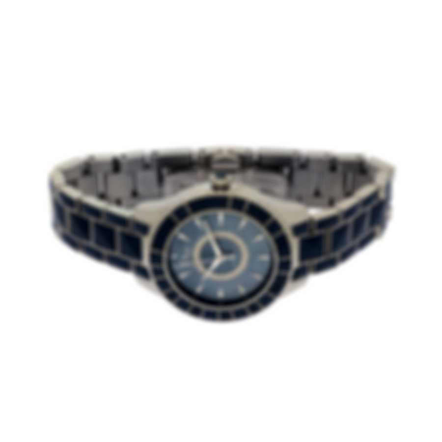 Dior Christal Blue Mother Of Pearl Diamond Automatic Ladies Watch CD144517M001