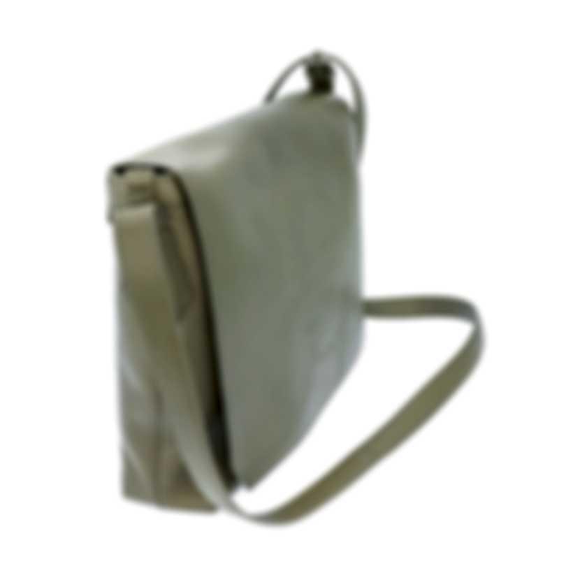 Dunhill Men's Dark Olive Leather Messenger Bag 18F36-50CH316