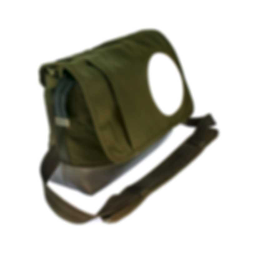 Dunhill Men's Olive Canvas And Leather Messenger Bag 18F36-50TR312
