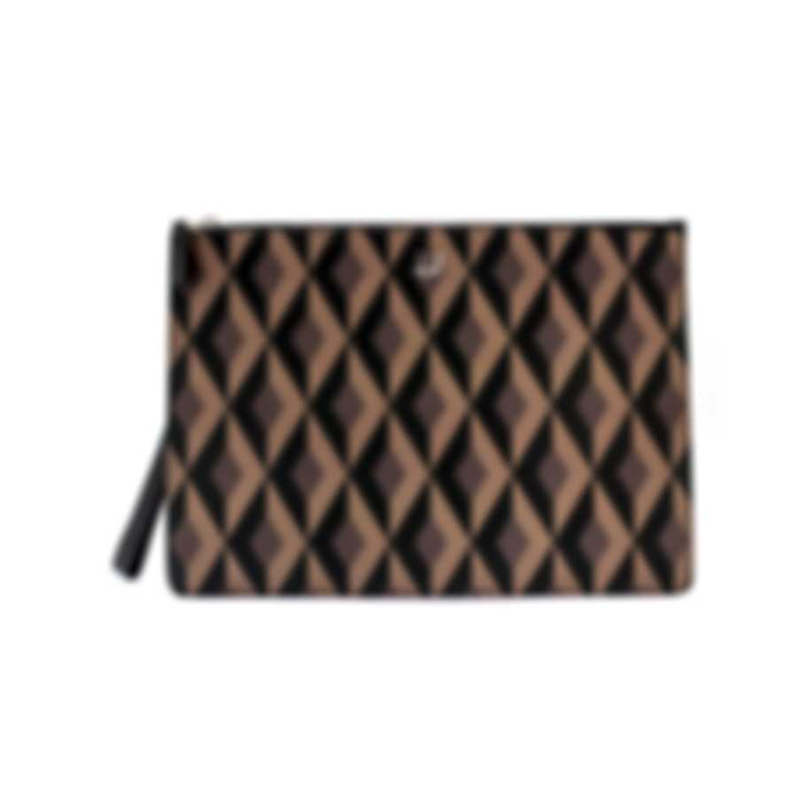 Dunhill Men's Brown Leather Pouch 18F38-50CT201
