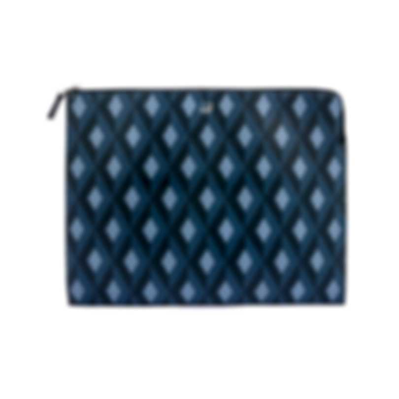 Dunhill Men's Blue Leather Pouch 18F38-55CT472