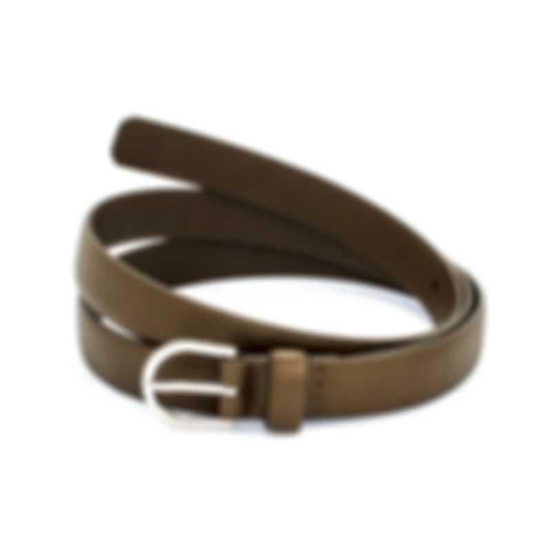 Dunhill Men's Dark Olive Leather Belt 18F4T-01GR316-40