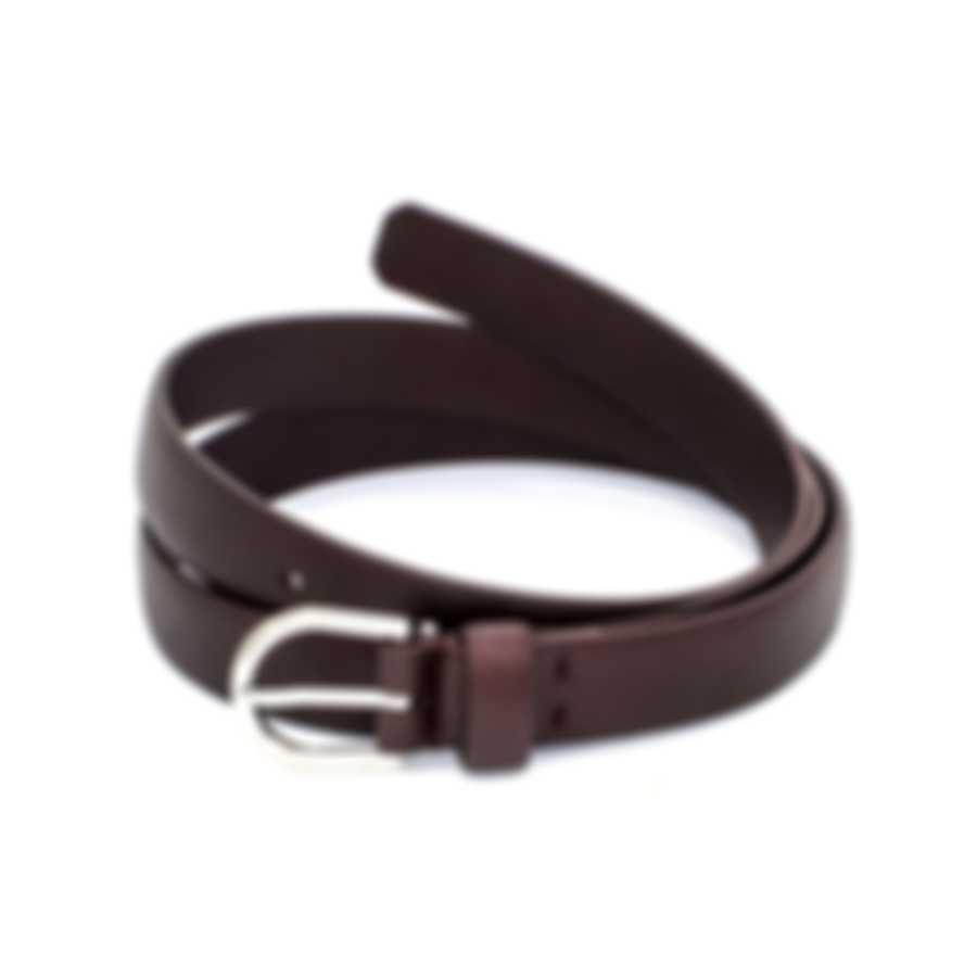 Dunhill Men's Burgundy Leather Belt 18F4T-01GR601-34