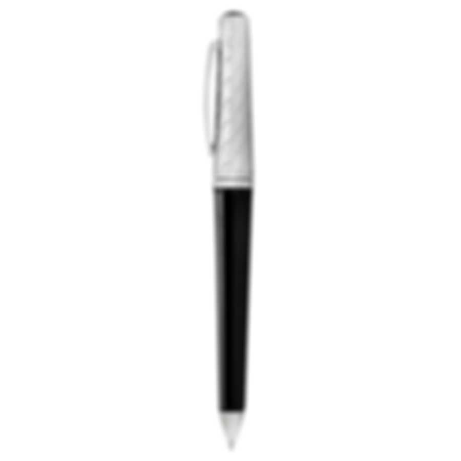 Dunhill Cubist Black & Silver Resin Ballpoint Pen 18FWA0223001TU