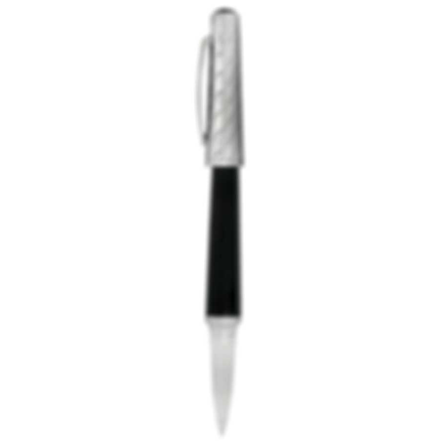 Dunhill Cubist Black & Silver Resin Rollerball Pen 18FWA0333001TU
