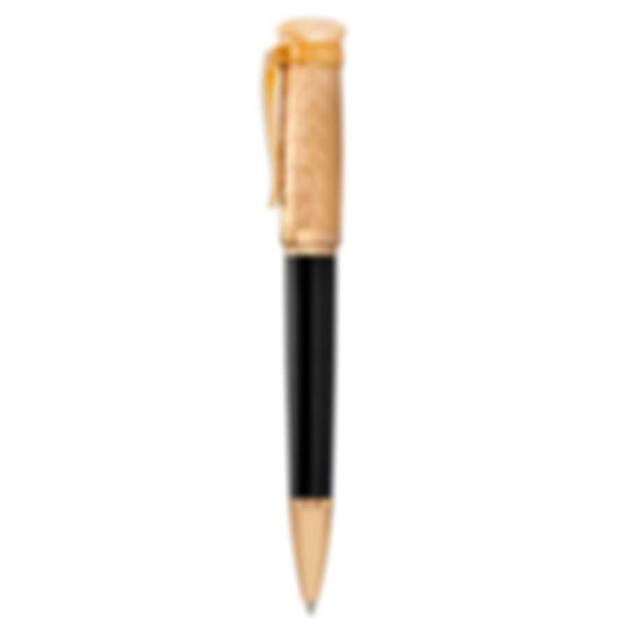 Dunhill Sentryman Black & Gold Resin Ballpoint Pen 18FWW0723001TU