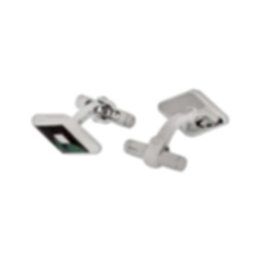 Dunhill Diamond Stud Silver & Mother Of Pearl Sterling Silver And Mother Of Pearl Cufflinks 18FUM8208040TU