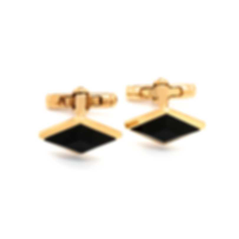 Dunhill Diamond Stud Black & Gold Sterling Silver And Gold Cufflinks 18FUM8201710TU
