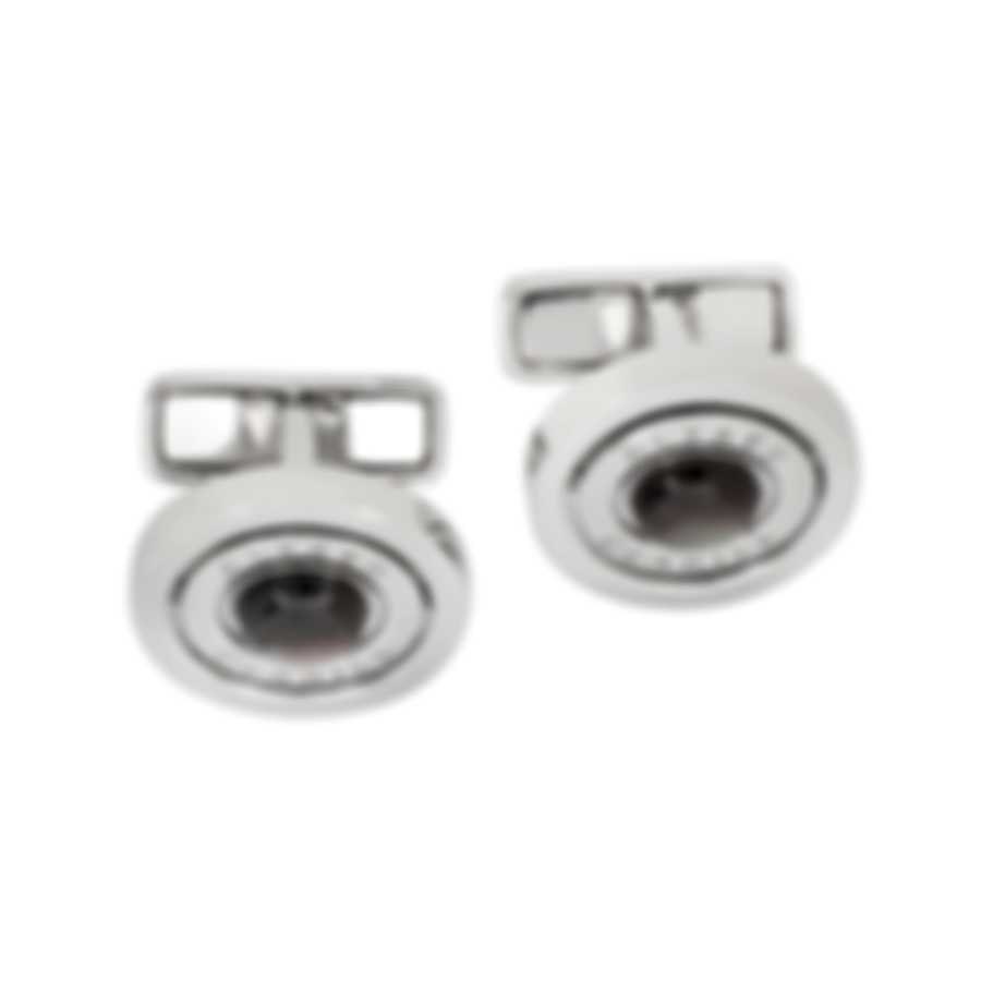 Dunhill Gyroscope Silver & Grey Sterling Silver And Mother Of Pearl Cufflinks 18FUN2201040TU
