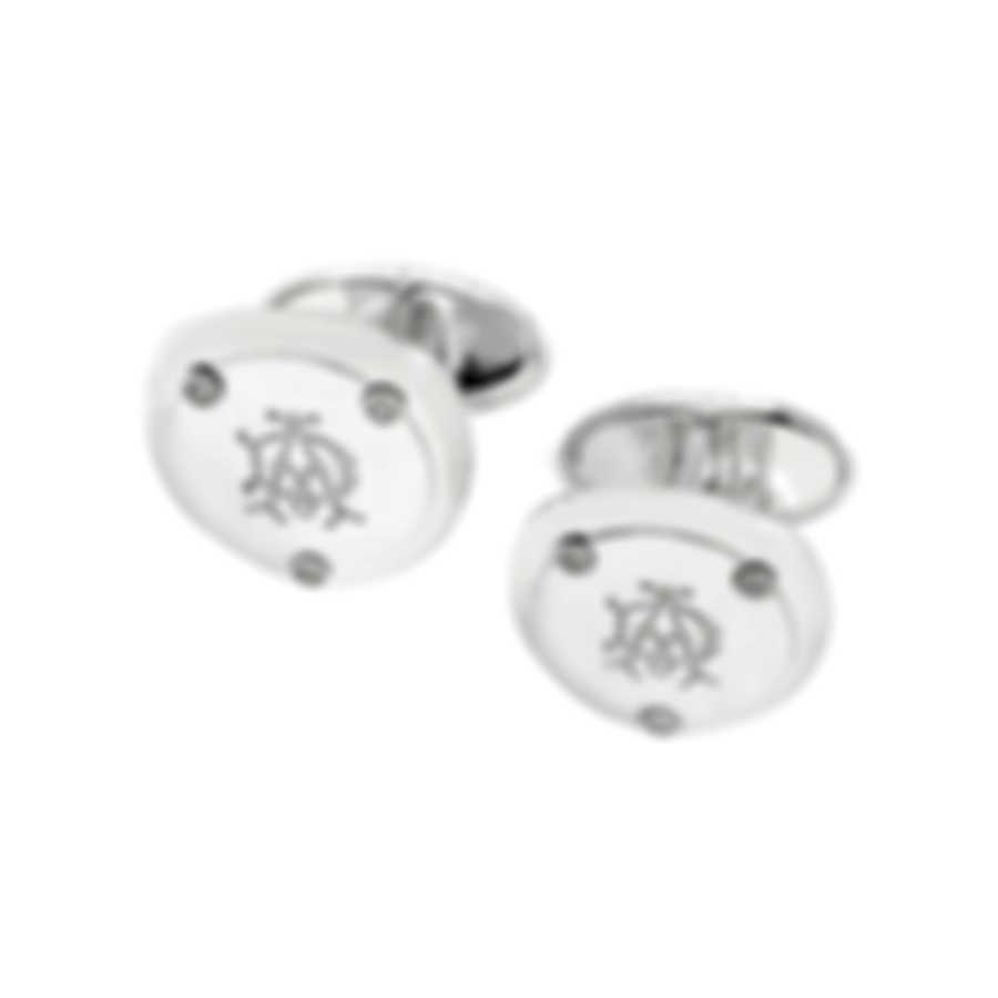 Dunhill Gothic Hex Sterling Silver Cufflinks 18FUE8216040TU