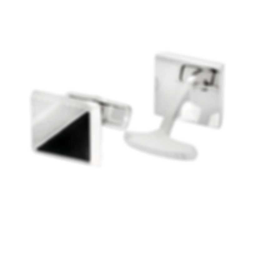 Dunhill Helix Silver & Black Sterling Silver And Onyx Cufflinks 18FUS8205040TU