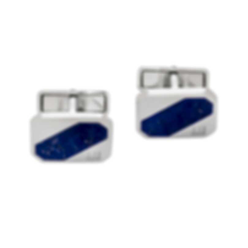 Dunhill Longtail Stripe Silver & Blue Sterling Silver Cufflinks 18FUS8210040TU