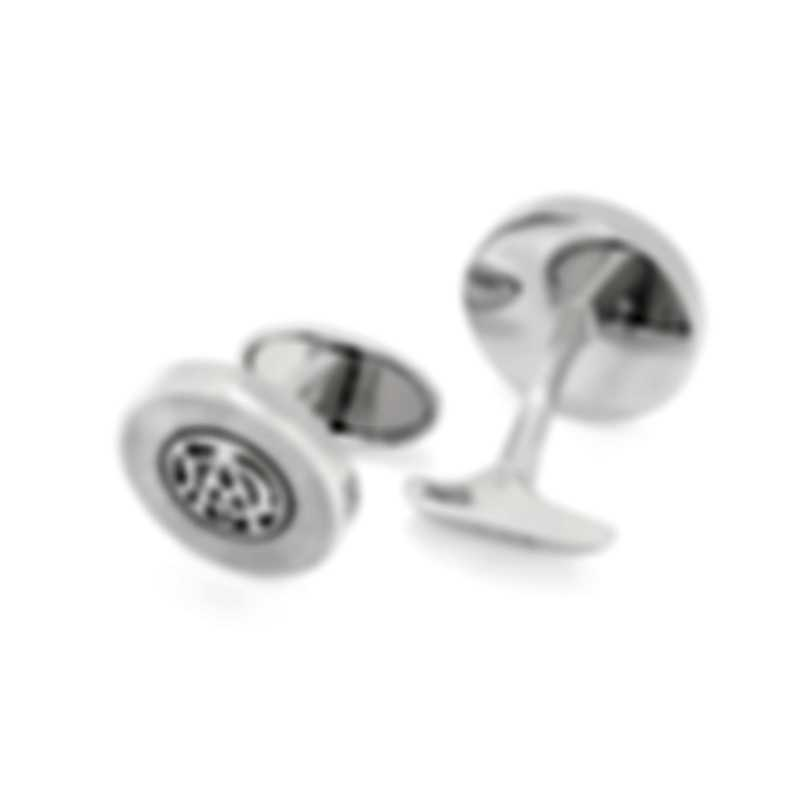 Dunhill Dynamic Silver Silver & Mother Of Pearl Sterling Silver And Mother Of Pearl Cufflinks 18FUS8227040TU