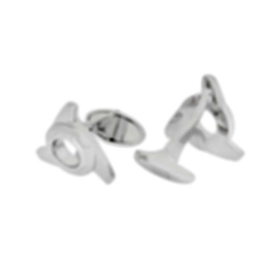 Dunhill Radial Wing Nut Sterling Silver Cufflinks 19FUS8209040TU