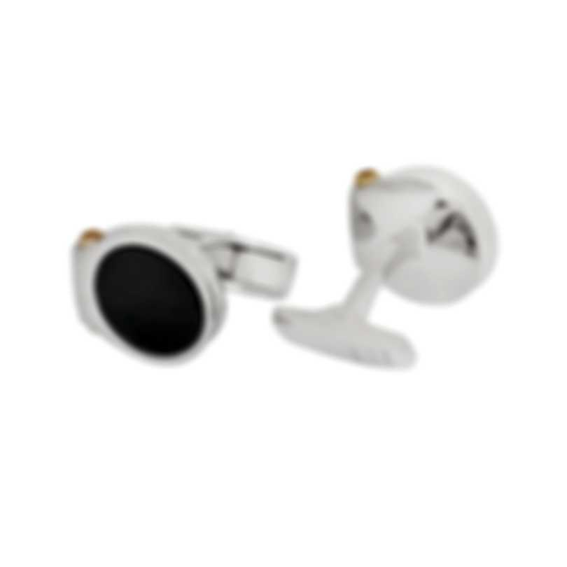 Dunhill Double Hex Black & Sterling Silver And Onyx Cufflinks 19FUS8203040TU