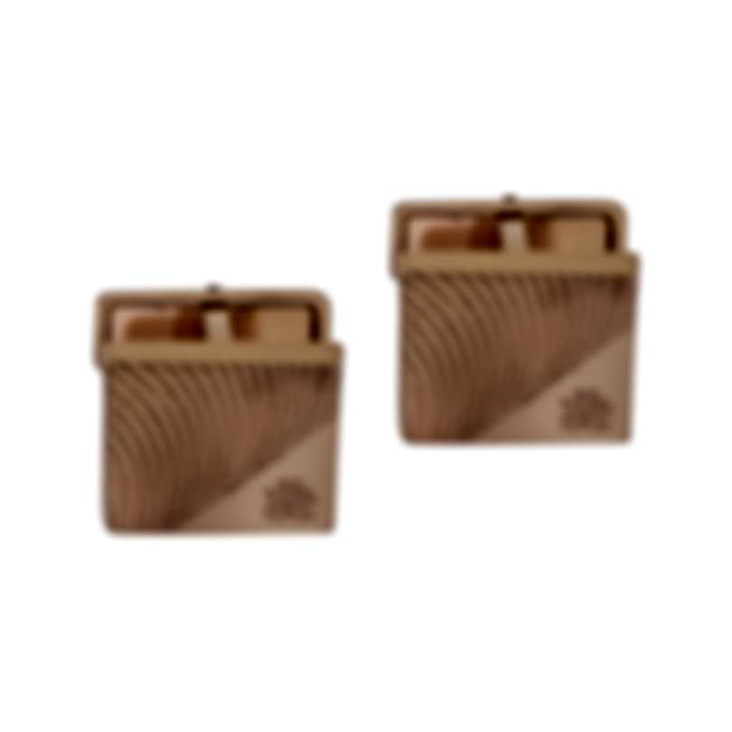 Dunhill Diagonal Stroke Gold Sterling Silver And Gold Plate Cufflinks 19FUS8218040TU