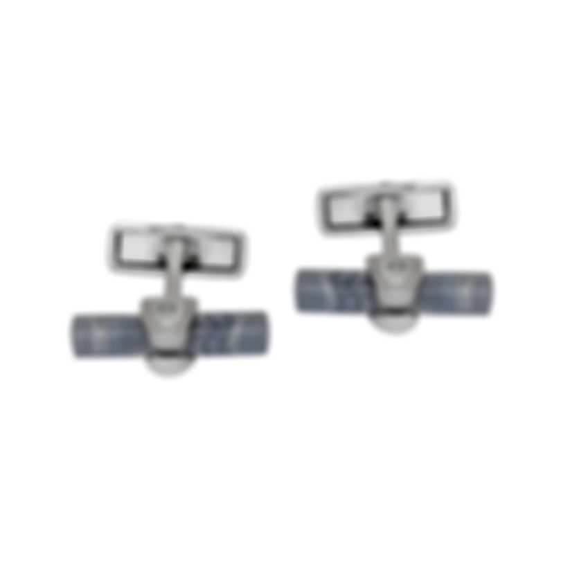 Dunhill Hex Purple & Sterling Silver And Agate Cufflinks 19FUS8213040TU