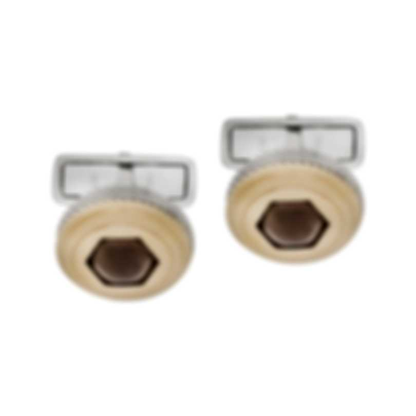 Dunhill Radial Gearbox Silver & Gold Sterling Silver And Gold Plate Cufflinks 19FUS8224040TU
