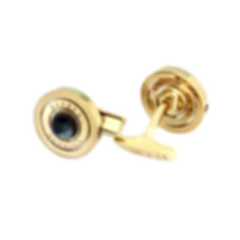 Dunhill Gyro Gold Sterling Silver And Mother Of Pearl And Gold Plate Cufflinks 19RUN5201710TU