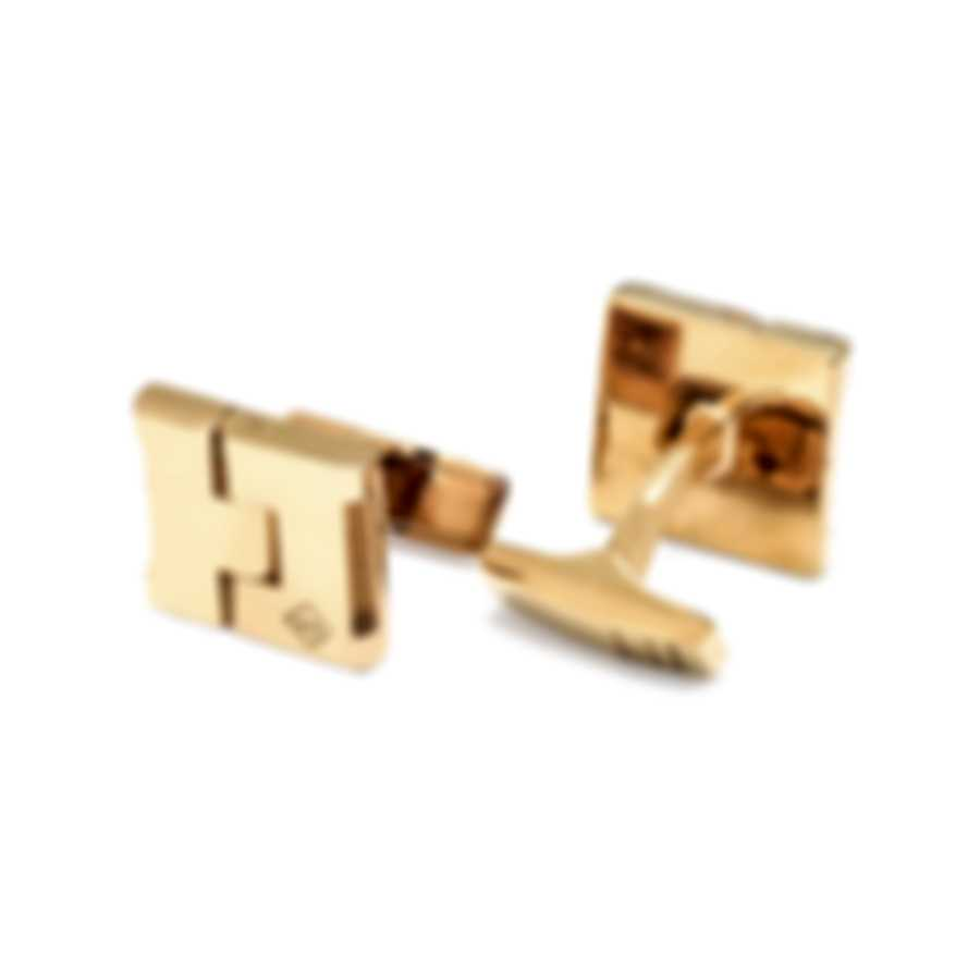 Dunhill Duke Hinge Gold Sterling Silver And Gold Plate Cufflinks 19RUE8215710TU