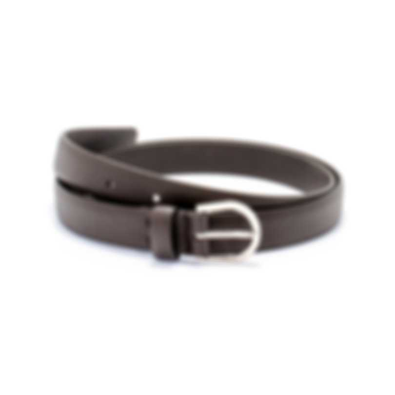 Dunhill Brown Saddle Buckle Leather Belt HPC135B36