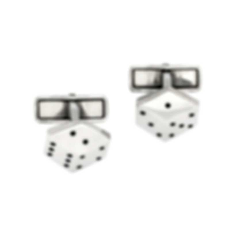Dunhill Dice Sterling Silver Cufflinks JMC82B4H