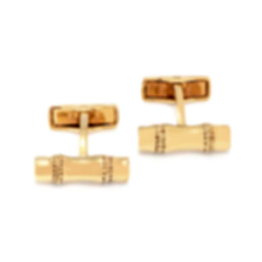 Dunhill Bamboo Gold Sterling Silver And Gold Plate Cufflinks JMC82B6H