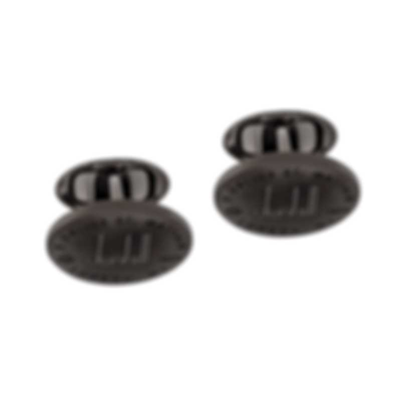 Dunhill Longtail Oval Gunmetal Brass And Rhodium Cufflinks JNB32H4K