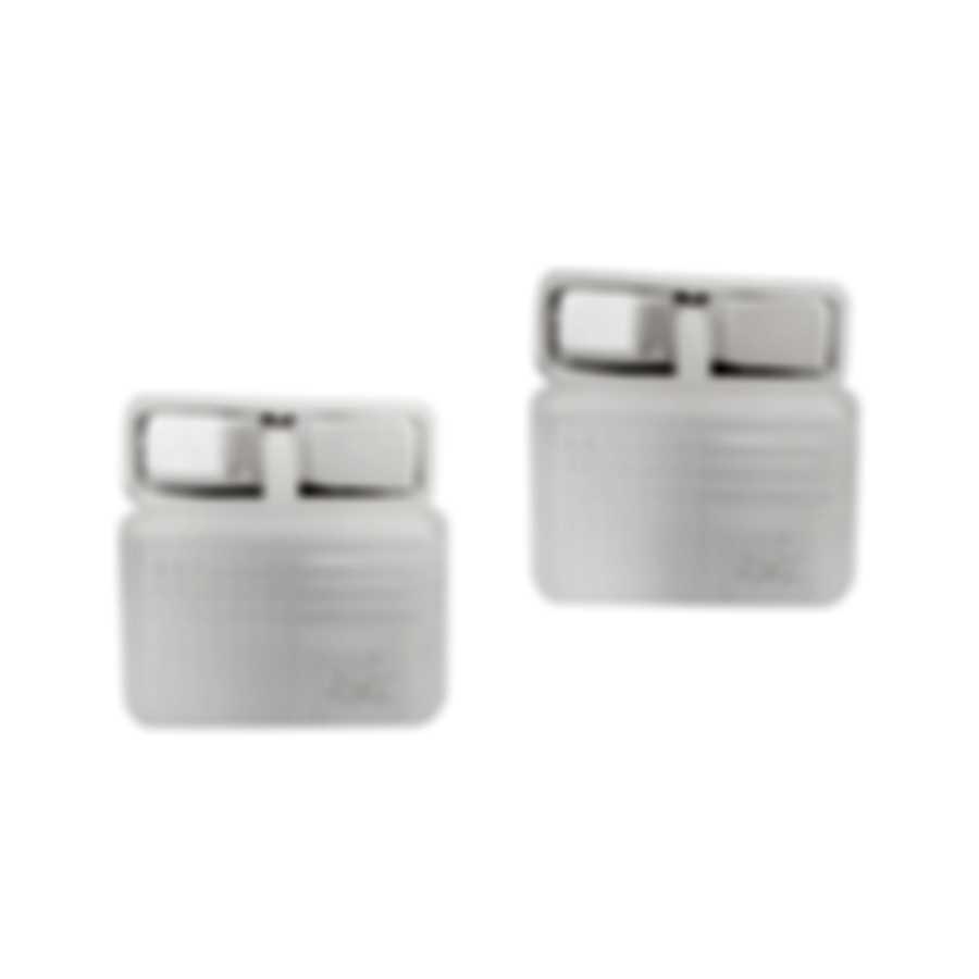 Dunhill AD Texture Sterling Silver Cufflinks JNC32J5K