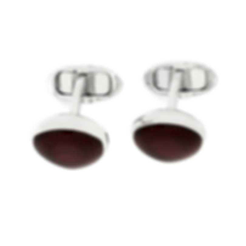 Dunhill Headlamp Silver & Red Brass And Resin Cufflinks JNC32J8K