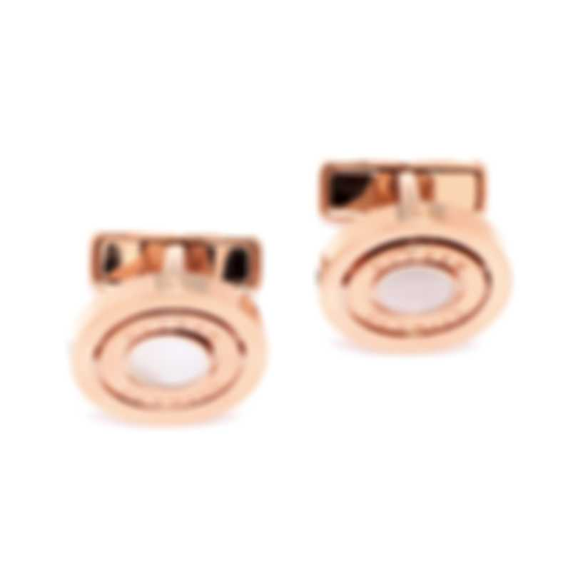 Dunhill Gyro Gold Gold Plate And Mother Of Pearl Cufflinks JNV5259K