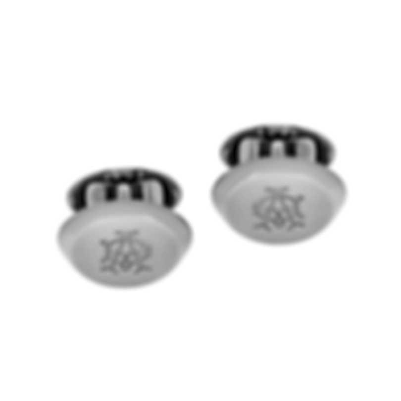 Dunhill AD Ellipse Gunmetal Rhodium Plate Cufflinks JNX3203K