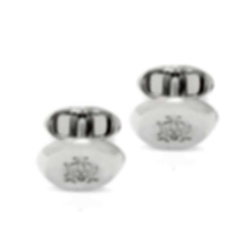 Dunhill AD Ellipse Silver Rhodium Plate Cufflinks JNX3200K