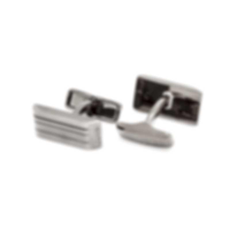 Dunhill LT Facet Gunmetal Rhodium Plate Cufflinks JNX3230K