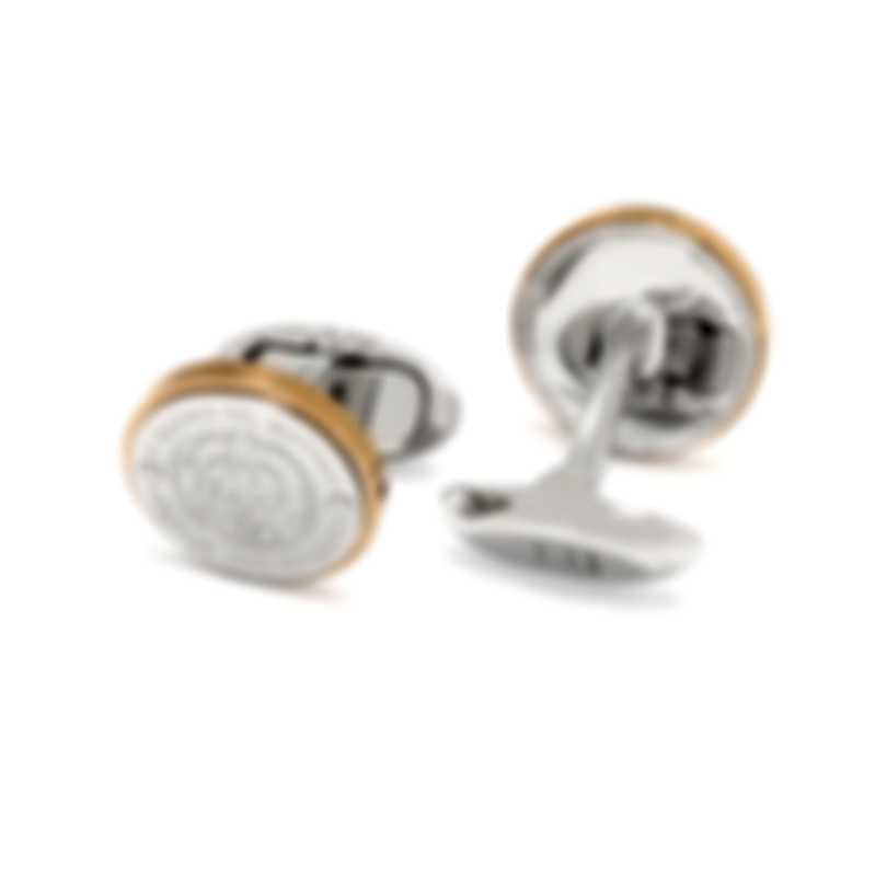 Dunhill AD Cap Silver & Gold Gold Plate And PVD Cufflinks JNY12A8K