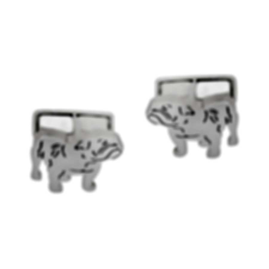 Dunhill Bulldog Sketch Silver Brass And Rhodium Plate Cufflinks JNZ32C6K
