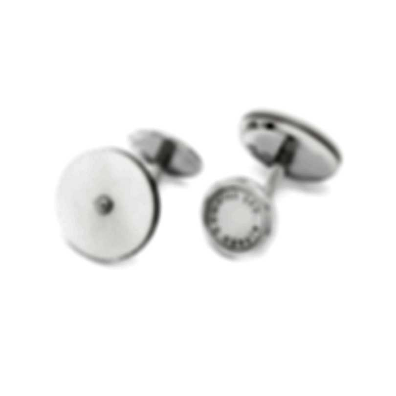 Dunhill ET Sterling Silver And Mother Of Pearl Cufflinks JDW8238H