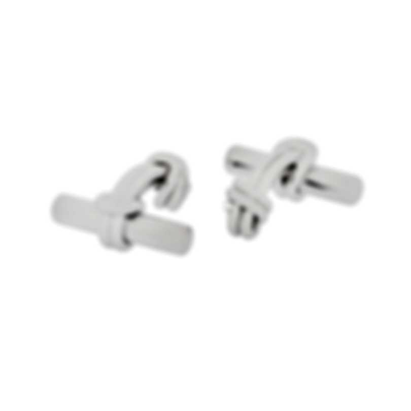 Dunhill Knot & Rod Sterling Silver Cufflinks JIW8229H