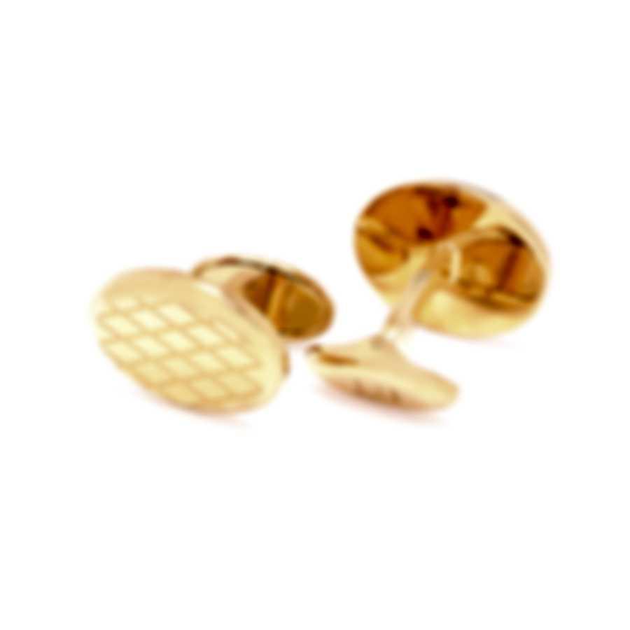 Dunhill Crosspatch Gold Brass And Gold Plate Cufflinks JSA5218K