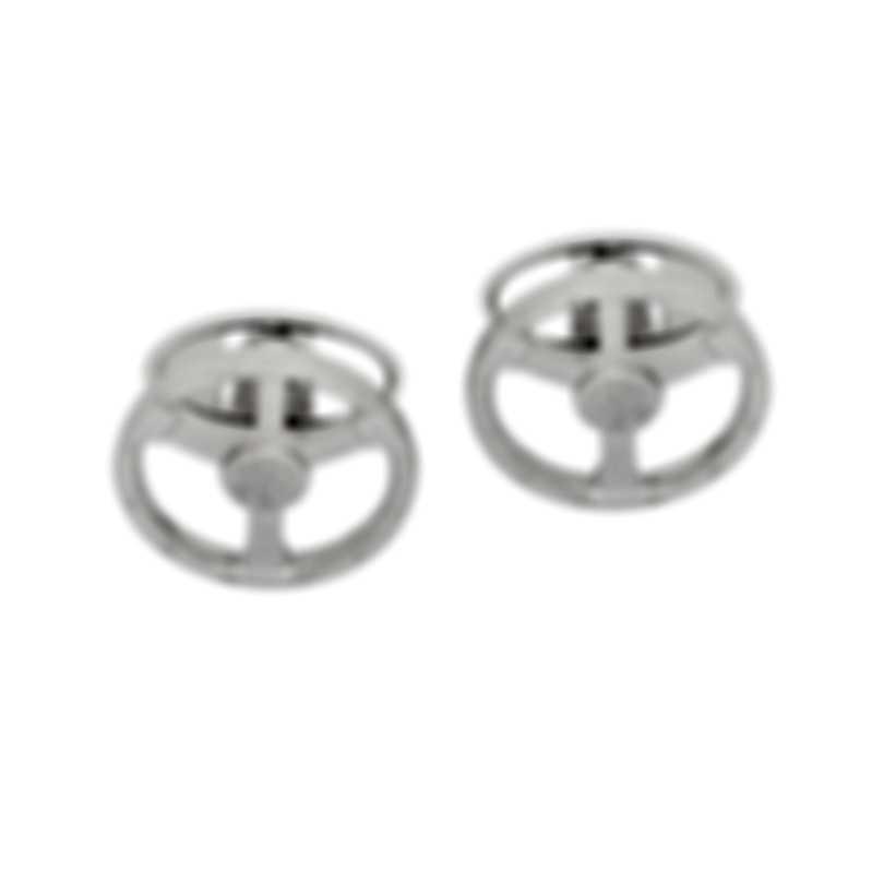 Dunhill Steering Wheel Sterling Silver Cufflinks JSA82C2H