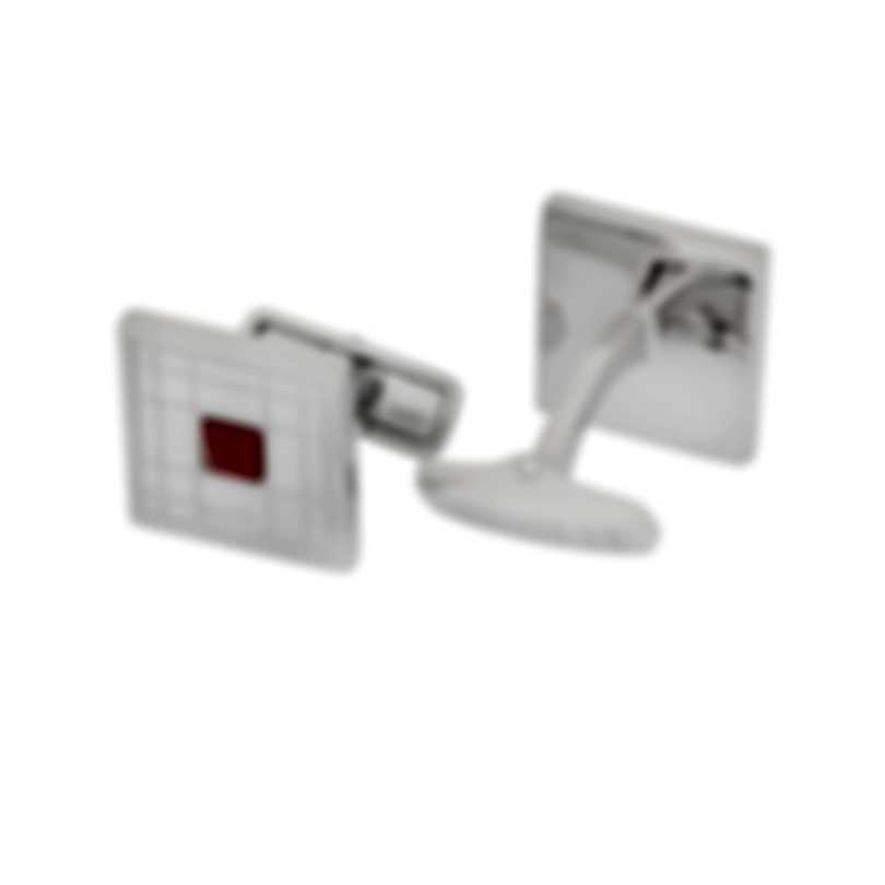 Dunhill Longtail Silver & Red Sterling Silver And Jasper Cufflinks JSC32F4K