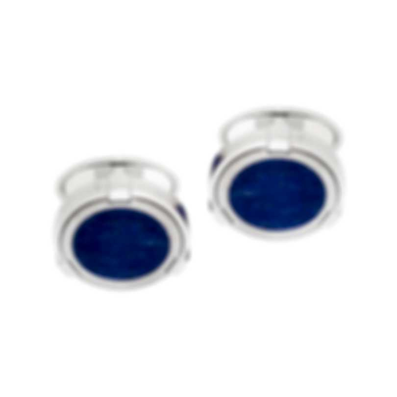 Dunhill Latch Silver & Blue Sterling Silver And Lapis Cufflinks JSC82G5H