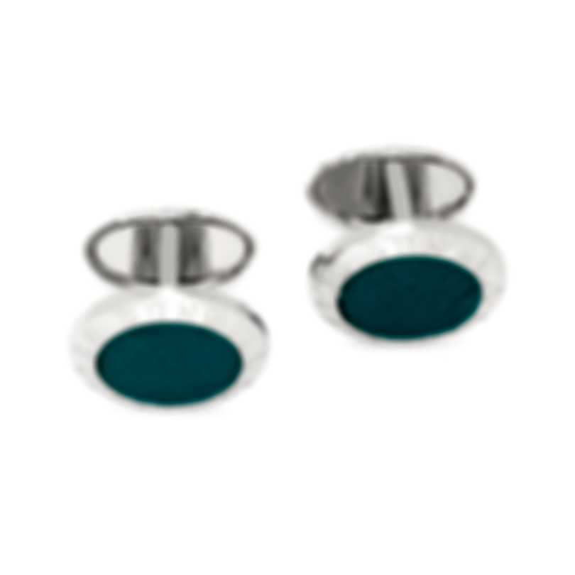 Dunhill AD Coin Silver & Turquoise Cufflinks JSC82G8H