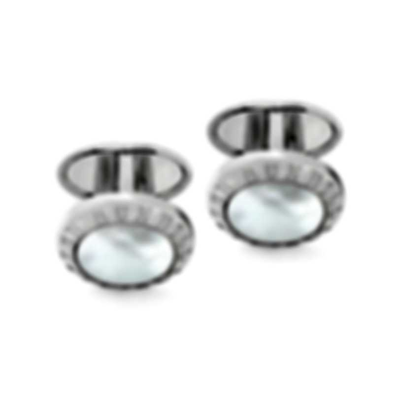 Dunhill AD Coin White Mother Of Pearl Cufflinks JSX82A7H