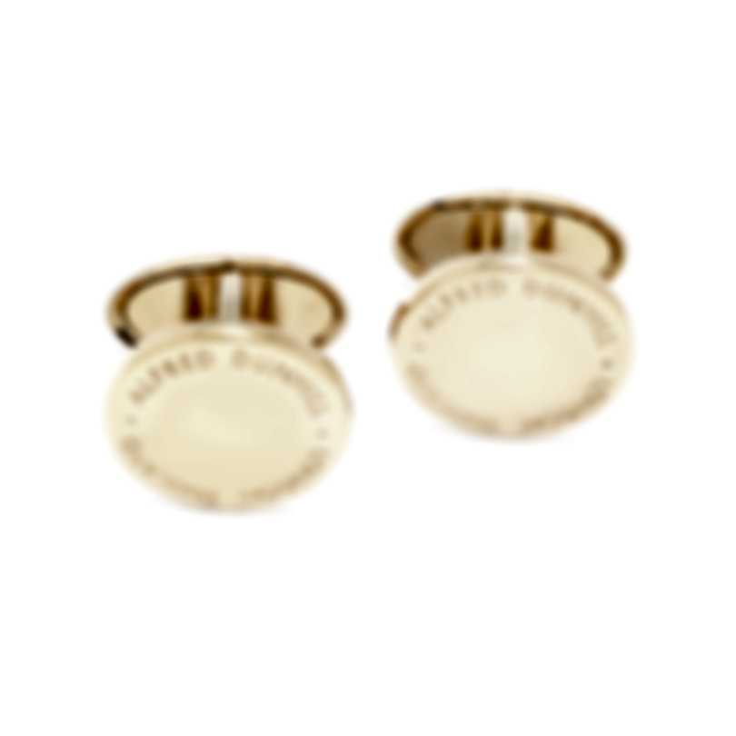 Dunhill Barley Disk Gold Gold-plate Cufflinks JSY5203K