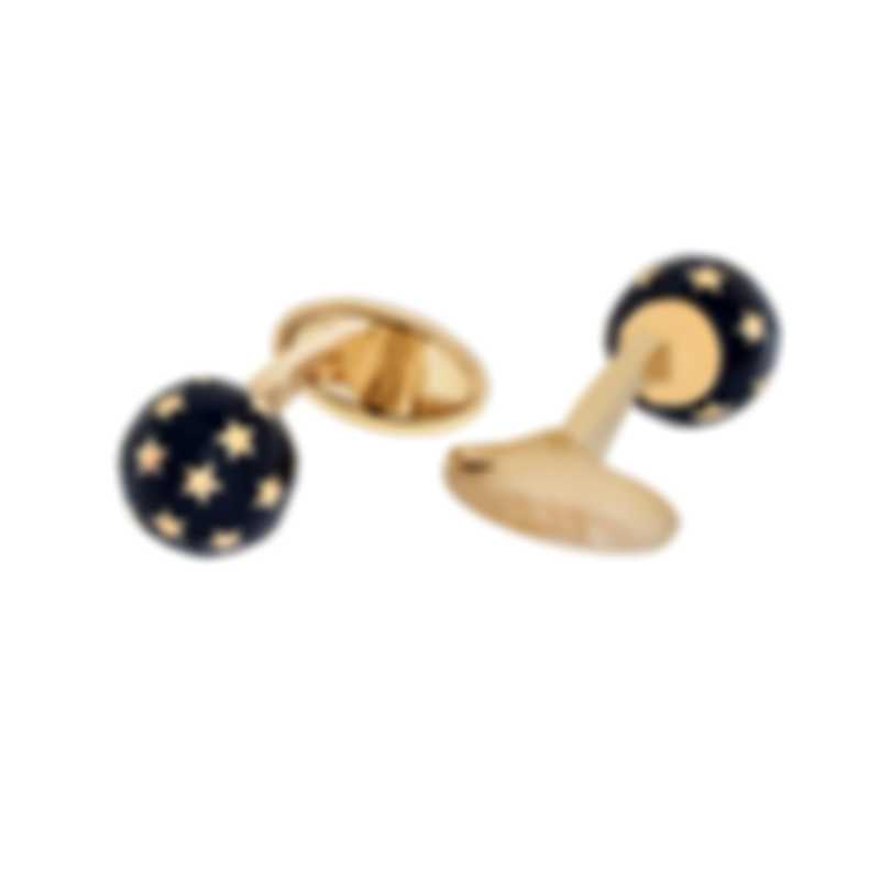 Dunhill Stars Gold & Blue Gold Plate And Enamel Cufflinks JYC8270H