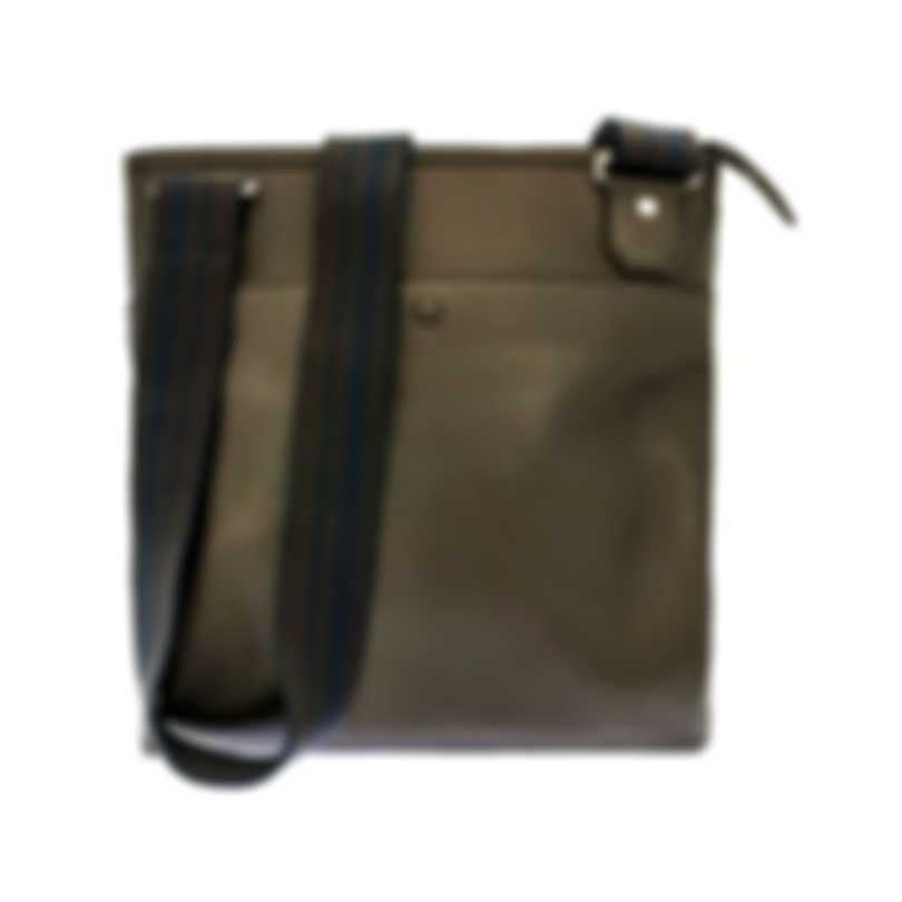 Dunhill Men's Hampstead Olive Leather Envelope-Style Document Holder L3BE93N