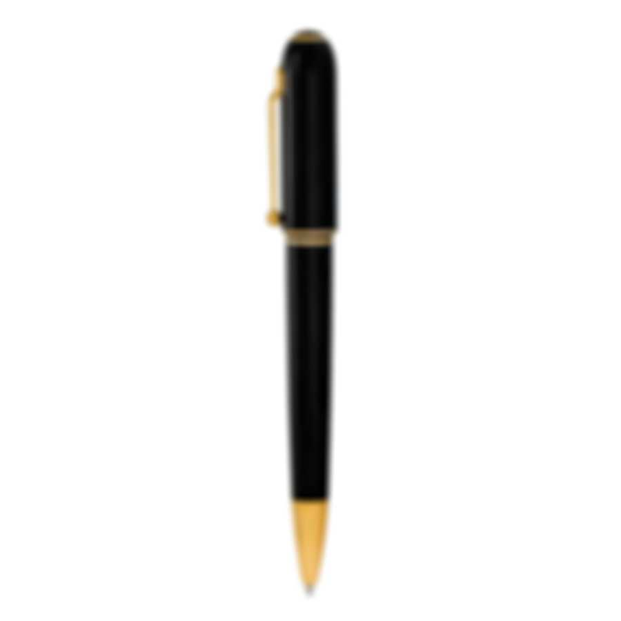 Dunhill Sidecar Black & Gold Resin And Gold Ballpoint Pen NUA2233