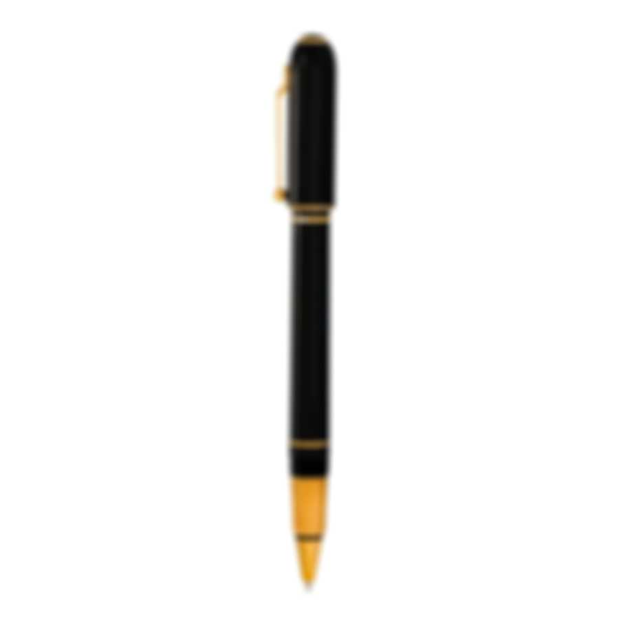 Dunhill Sidecar Black & Gold Resin And Gold Rollerball Pen NUA3233